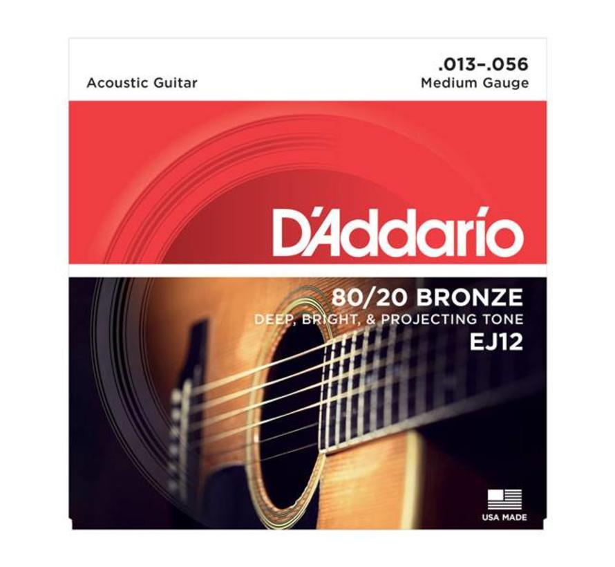 D'Addario EJ12 Acoustic  snarenset