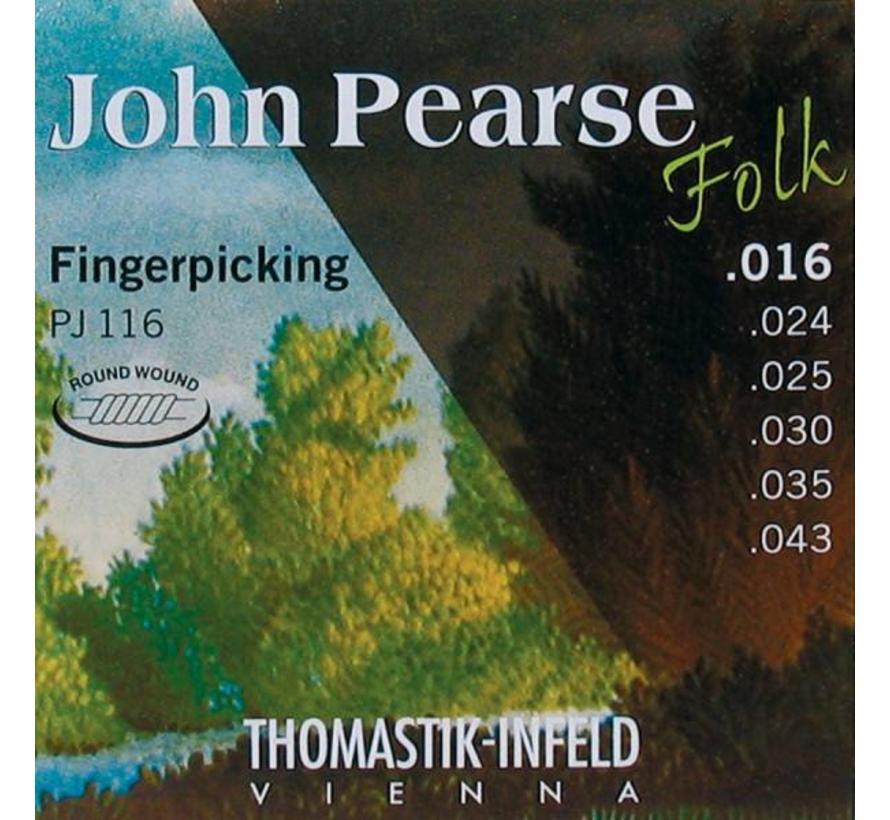 Thomastik PJ116 John Pearse 16 | 43 - akoestische snarenset