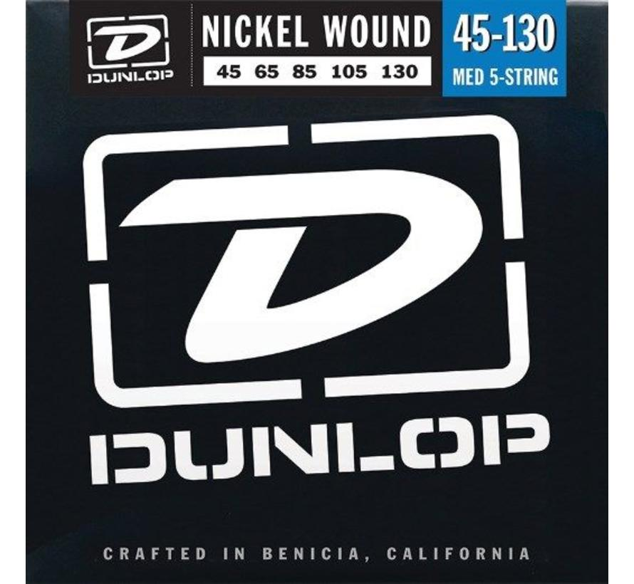 Dunlop Nickel Wound Bass snaren Medium snarenset