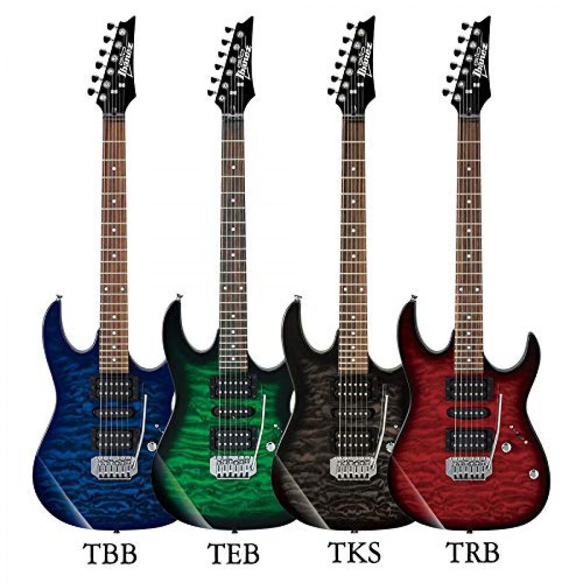 Ibanez GRX70QA gitaren in verschillende kleuren