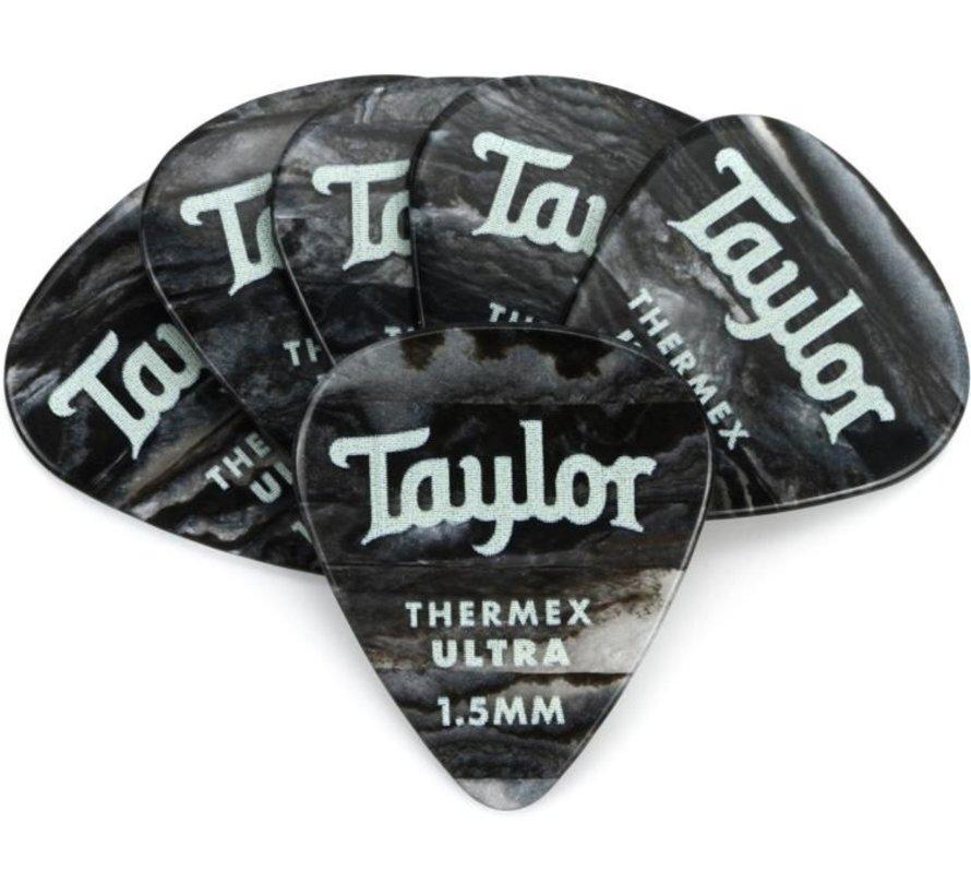 Taylor 6 Premium Thermex Ultra plectrums Black Onyx