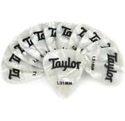 Taylor Taylor 12 Premium Celluloid plectrums White Pearle
