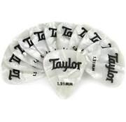 Taylor Taylor 12 Premium Celluloid plectrums White Pearle