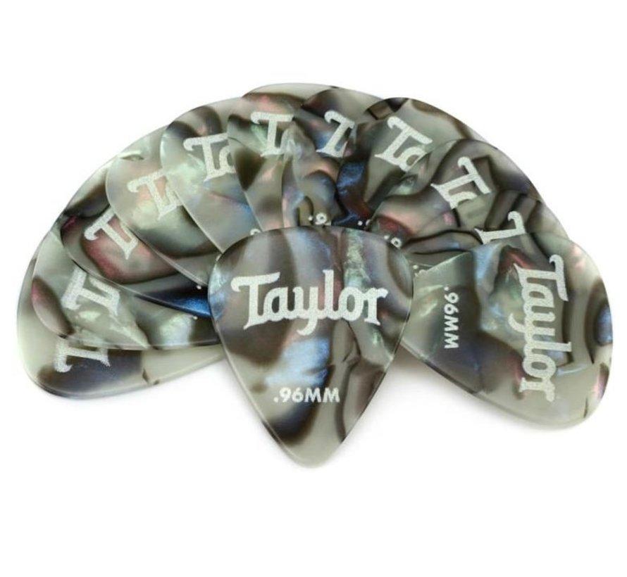 Taylor 12 Premium Celluloid plectrums Abalone