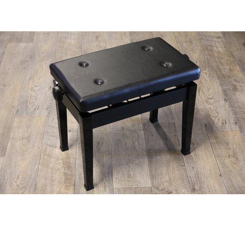 Pianobank Luxe pianobank in hoogte verstelbaar | Zwart hoogglans | Made in Japan