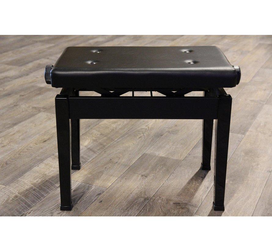 Luxe pianobank in hoogte verstelbaar | Zwart hoogglans | Made in Japan