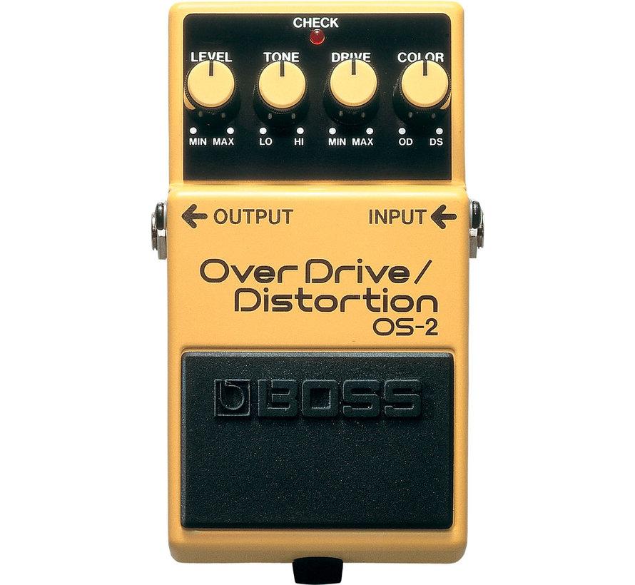 Boss OS-2 Overdrive Distortion gitaar effectpedaal