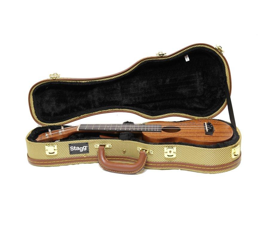 Stagg GCX-UKS GD Koffer voor Sopraan Ukelele