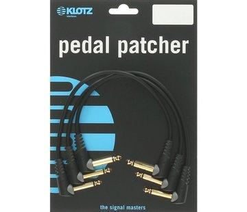Klotz  Klotz Pedal Patcher 3 stuks 0,15 meter | gitaarkabel