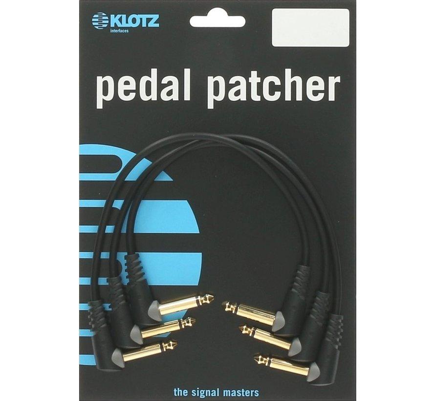 Klotz Pedal Patcher 3 stuks 0,15 meter | gitaarkabel
