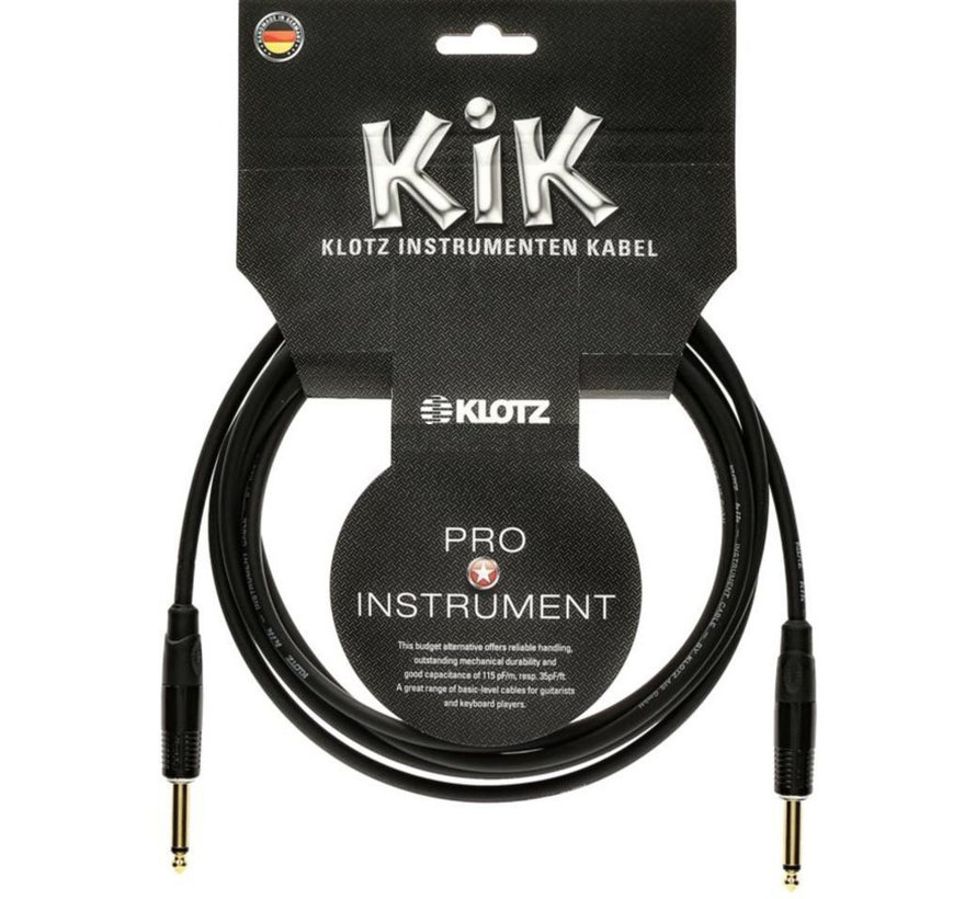 Klotz KIK Pro Instrumentkabel - 4,5 meter