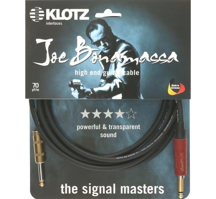 Klotz Joe Bonamassa Gitaarkabel met silentPLUG - 3 meter