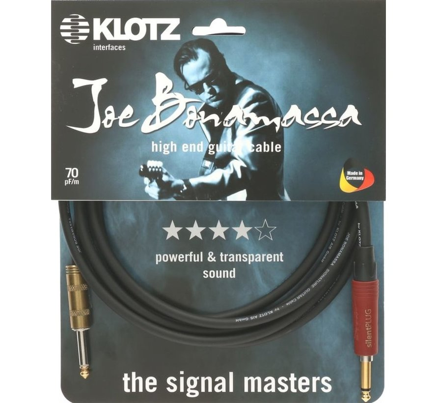 Klotz Joe Bonamassa Gitaarkabel met silentPLUG - 6 meter