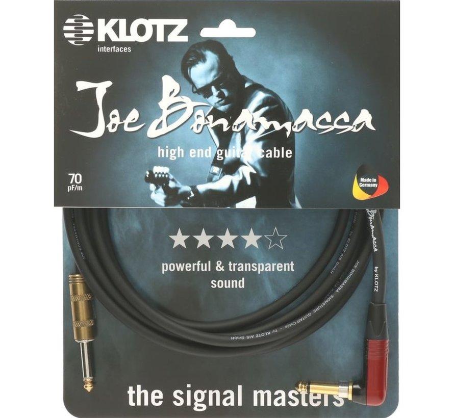 Klotz Joe Bonamassa Gitaarkabel met gehoekte silentPLUG - 6 meter