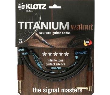 Klotz  Klotz Titanium Walnut gitaarkabel - 3 meter