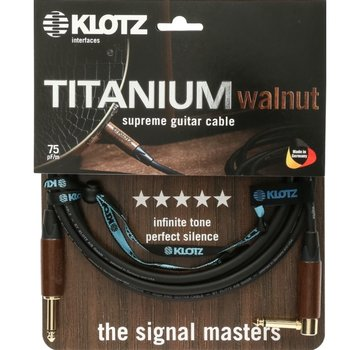 Klotz  Klotz Titanium Walnut gitaarkabel - 4,5 meter