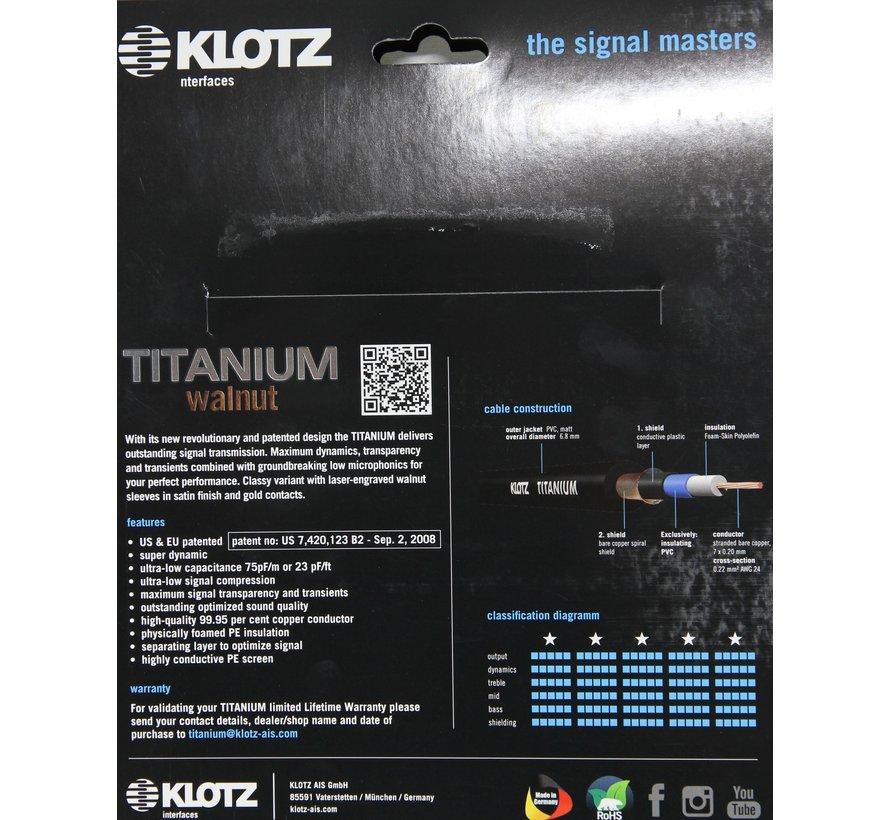 Klotz Titanium Walnut gitaarkabel - 4,5 meter