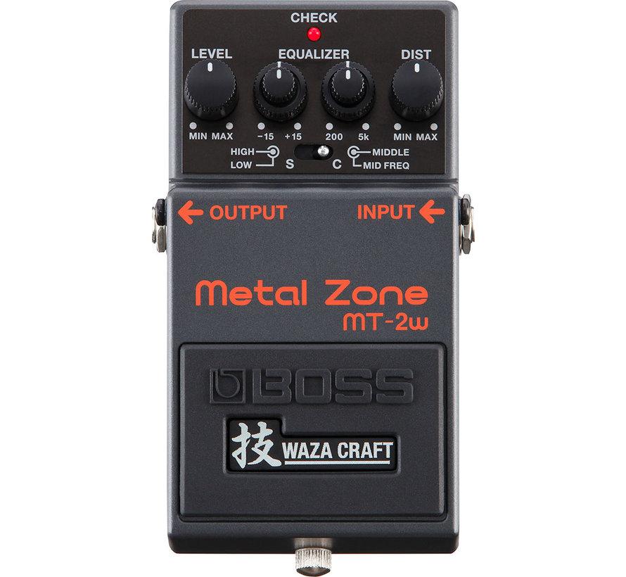 Boss MT-2W Metal Zone Waza gitaar effectpedaal