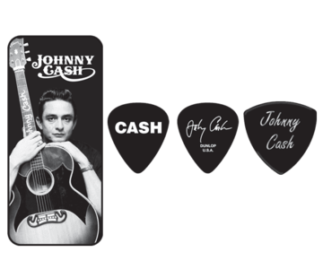 Dunlop Dunlop Johnny Cash plectra doosje + 6 picks | Medium | JCPT01M