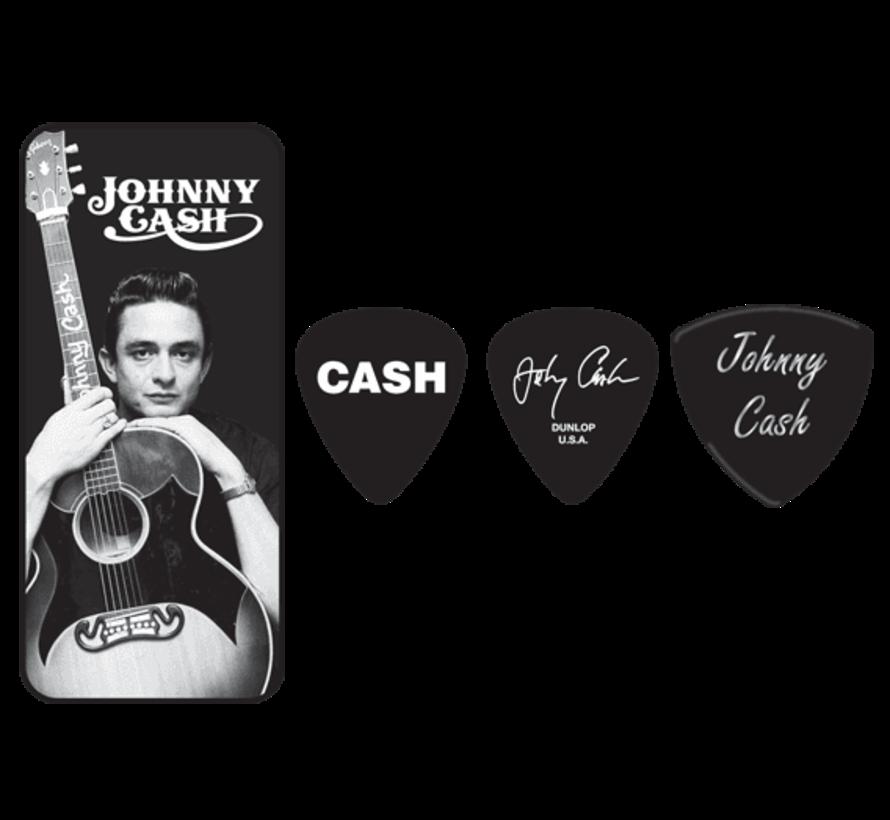 Dunlop Johnny Cash plectra doosje + 6 picks | Medium | JCPT01M