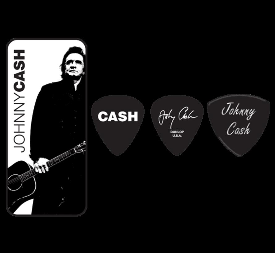 Dunlop Johnny Cash plectra doosje + 6 picks | Heavy | JCPT02H