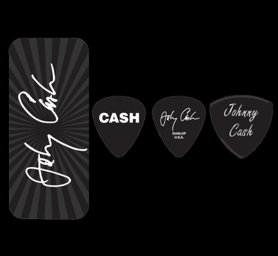 Dunlop Johnny Cash plectra doosje + 6 picks | Medium | JCPT03M