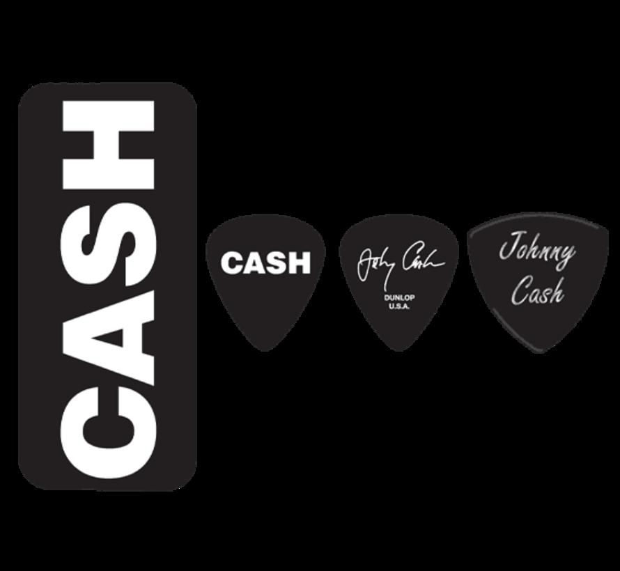 Dunlop Johnny Cash plectra doosje + 6 picks | Medium | JCPT04H