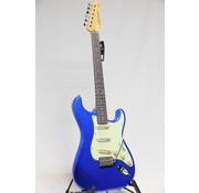 Vintage Vintage V6CAB Candy Apple Blue Stratocaster elektrische gitaar