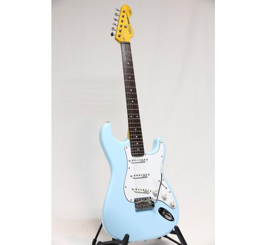 Vintage V6LB Laguna Blue Stratocaster elektrische gitaar