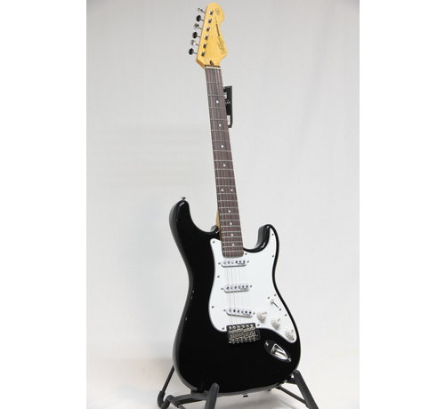 Vintage Vintage V6BB Boulevard Black Stratocaster elektrische gitaar