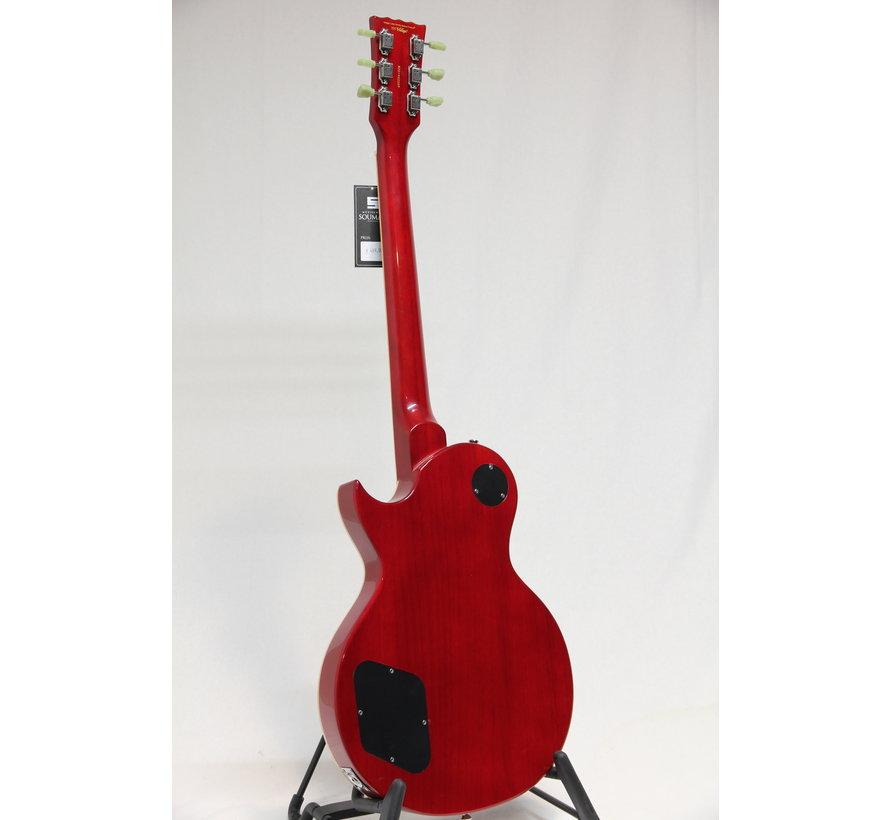 Vintage V100TWR Flamed Trans Wine Red Les Paul elektrische gitaar