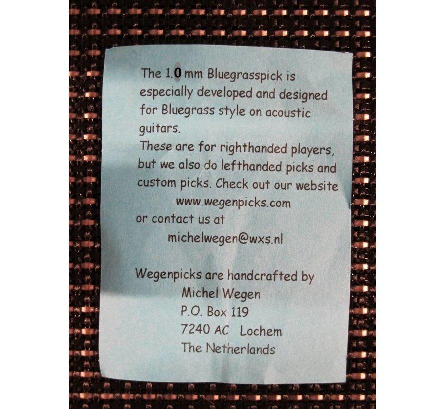 Wegen Picks 1.0mm Bluegrasspick Wit