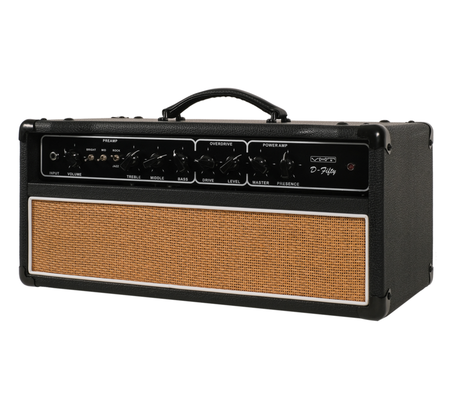 VHT AV-D-50H D-Series D-Fifty Tube Head 50 watt gitaarversterker top met 2-knops voetschakelaar