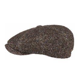 Stetson Stetson Hatteras Virgin Wool/Silk Flatcap Dark Brown