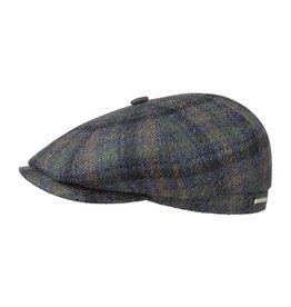 Stetson Stetson Hatteras Wool/Cashmere Flatcap Blue/Green