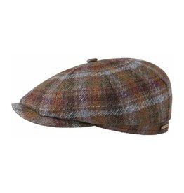 Stetson Stetson Hatteras Wool/Cashmere Flatcap Brown/Blue
