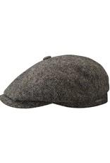 Stetson Stetson Hatteras Woolrich Herringbone Flatcap Dark Brown