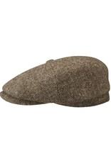 Stetson Stetson Hatteras Woolrich Herringbone Flatcap Brown