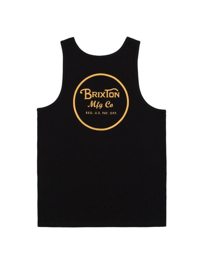 Brixton Wheeler Tank Top Black/Gold