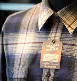 Pike Brothers Pike Brothers 1937 Roamer Shirt Blue Beige Check