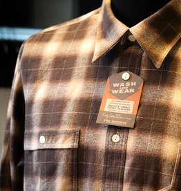 Pike Brothers Pike Brothers Roamer Shirt Brown Beige Check Flannel