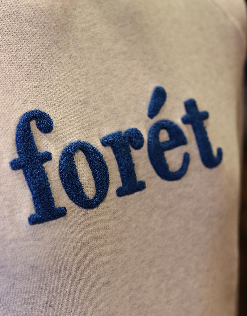 foret FORET SPRUCE SWEATSHIRT OATMEAL BLUE