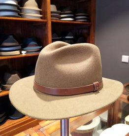 Brixton Messer Fedora Heather Natural