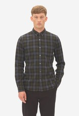 Nowadays Brushed Check Button Down Shirt