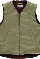 Eat Dust Bedford Cords Mens Jacket Vest Khaki