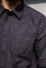 Eat Dust Shirt Combat Brisbane Denim Indigo Blue