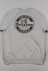 Brixton Soto Crewneck Sweater Heather Grey/Black
