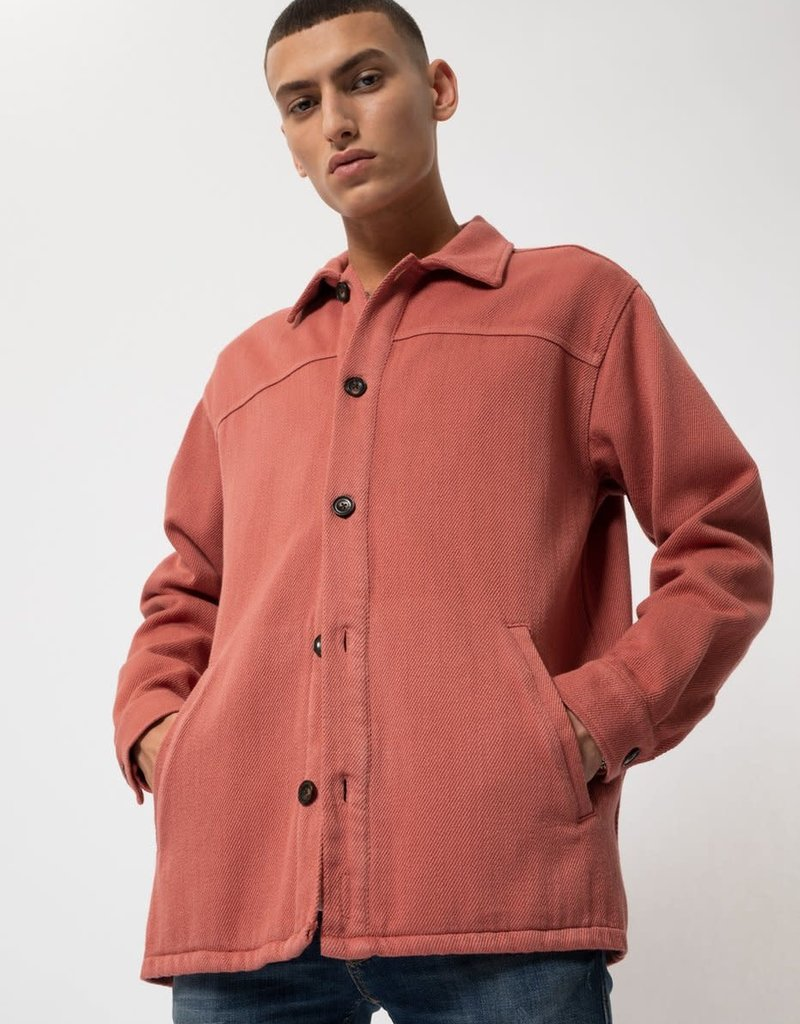 Nudie Jeans Co Elias Twill OverShirt Dusty Red