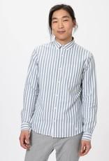 Nowadays button down oxford stripe shirt Bottle Green