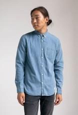Nowadays Poseidon Blue Button Down Denim Shirt